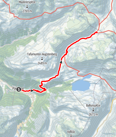 Map / Zustieg Neue Heilbronner Hütte von Partenen