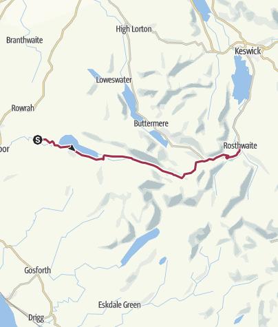 Map / Wanderung nach Rosthwaite