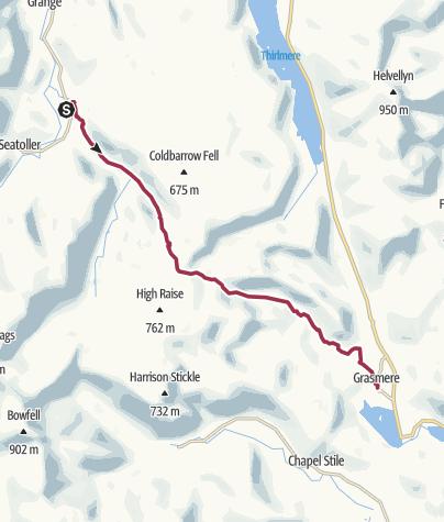 Map / Wanderung nach Grasmere