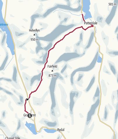 Map / Wanderung nach Patterdale