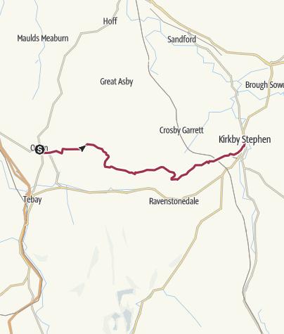 Map / Wanderung nach Kirkby Stephen