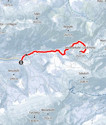 Kaart / Schneeschuhwanderung Zendleser Kofel