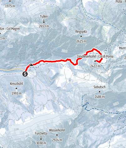Karte / Schneeschuhwanderung Zendleser Kofel