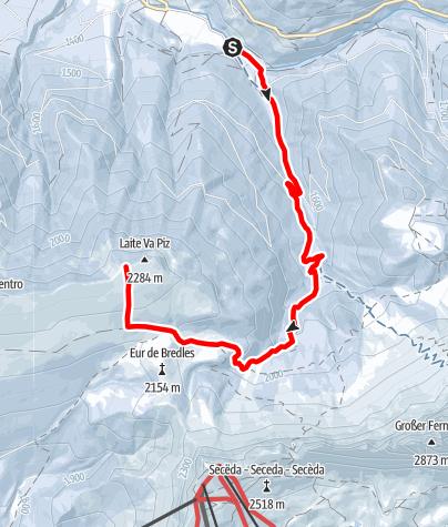 Map / Ski Touring Laite Va Piz