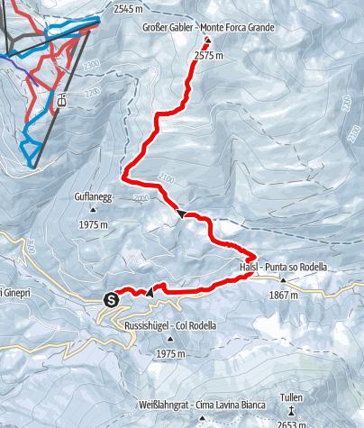 Mapa / Skitour Gabler