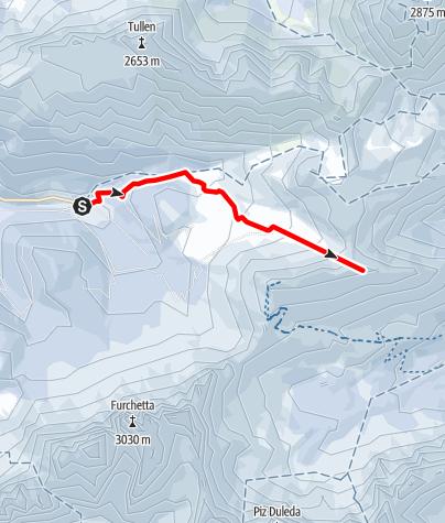 Mapa / Skitour Bronsoijoch