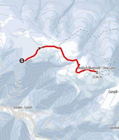 Kaart / Schneeschuh-Skitour Astjoch