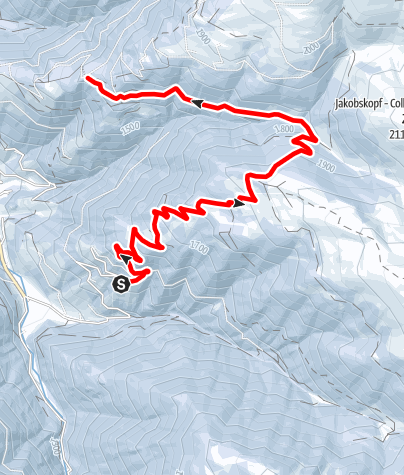 Kaart / Schneeschuhwanderung - Skitour Glittner Ställe