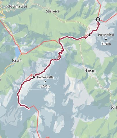 Map / Wanderung zur Vazzoler Hütte