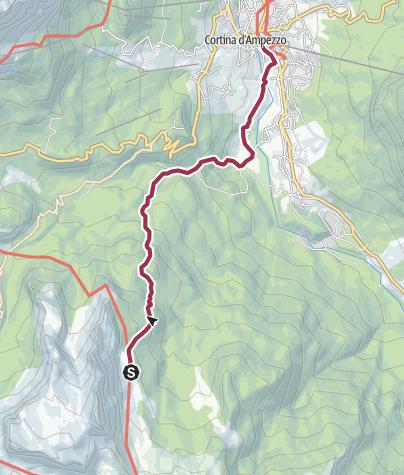Carte / Wanderung nach Cortina