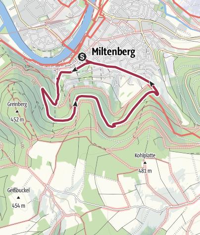 Karte / Ottostein-Weg M2