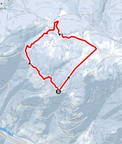 Mapa / Schneeschuhwanderung Tulper - Pianer Kreuz
