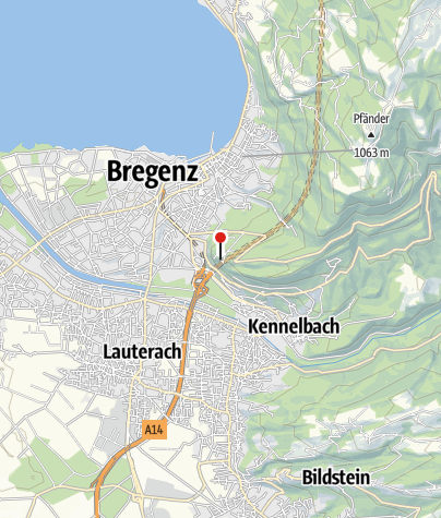 Kaart / Burgruine Hohen Bregenz, Gebhardsberg