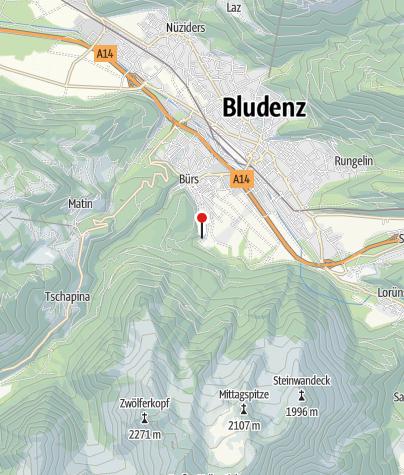 Karte / Bürs, Burg Rosenegg