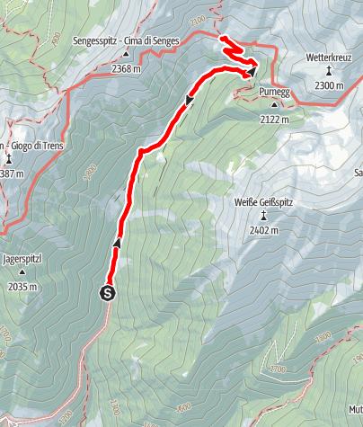 Mapa / Wanderung zur Simile Mahd Alm