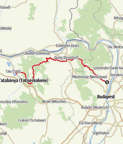 Térkép / Kinizsi Százas - 100 km