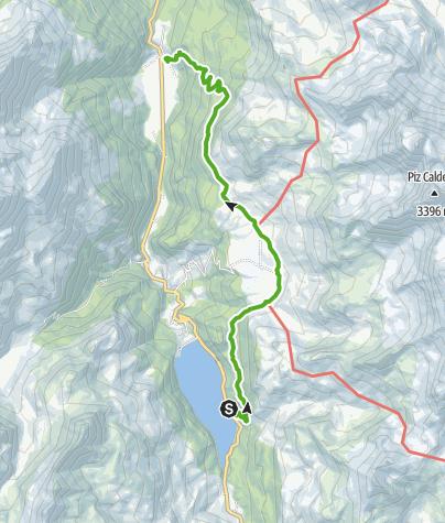 Karte / Marmorera - Alp Flix - Rona