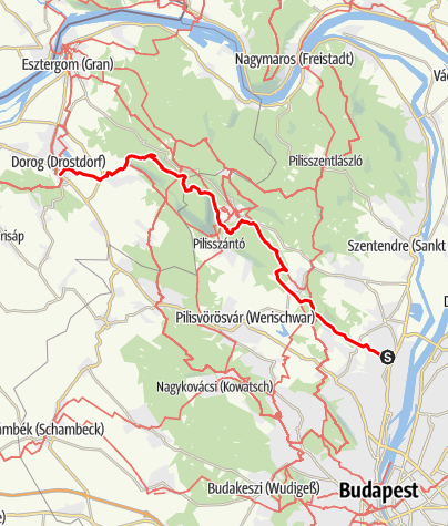 Térkép / Kinizsi Százas - 40 km
