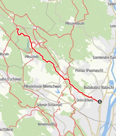 Map / Kinizsi Százas - 25 km