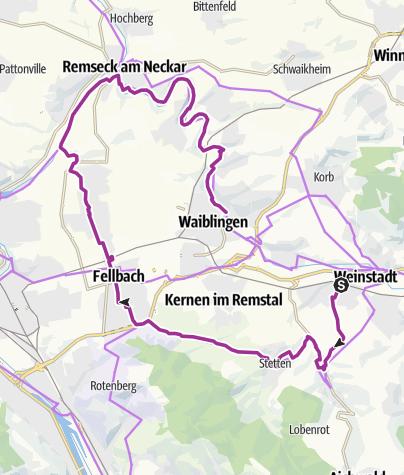 Karte / Remstal-Radweg Etappe 1