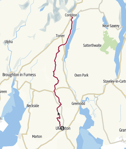 Map / Ulverston to Coniston