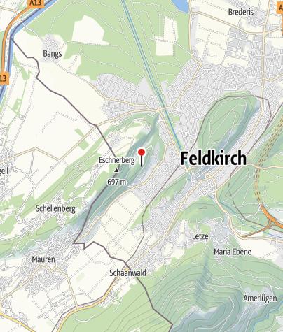 Karte / Feldkirch, Burgruine Tosters