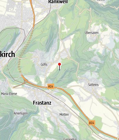 Karte / Göfis, Burgruine Heidenburg