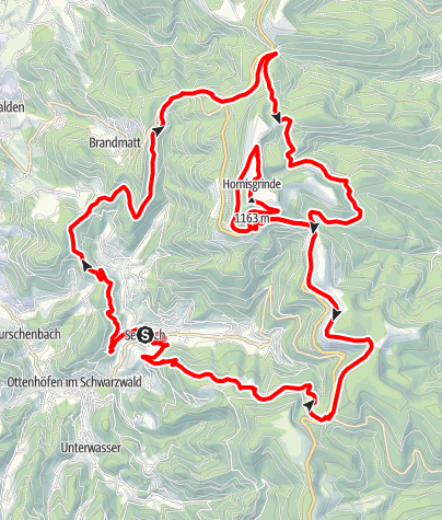 Karte / Hornisgrinde - Panoramatour
