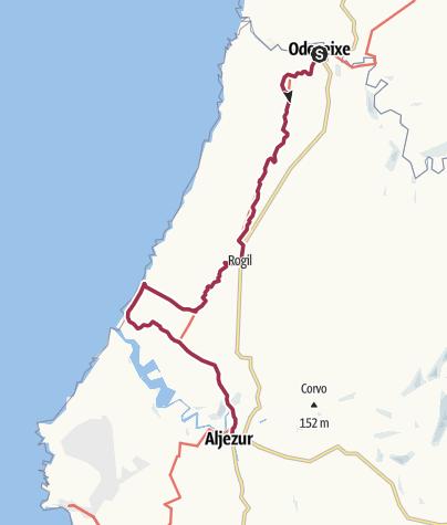Karte / Odeceixe nach Aljezur