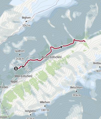 Map / Alternative Höhenweg Juni 2019