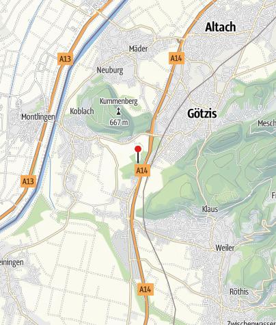 Kaart / Koblach, Burgruine Neuburg