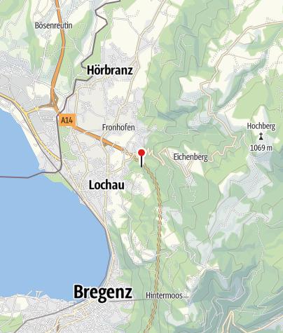 Karte / Lochau, Burgruine Alt-Hofen