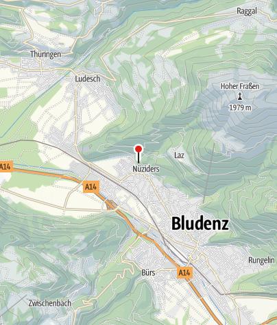 Kaart / Nüziders, Burgruine Sonnenberg