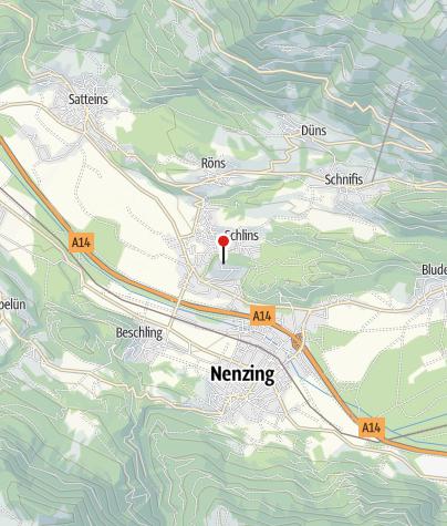 Kaart / Schlins, Burgruine Jagdberg