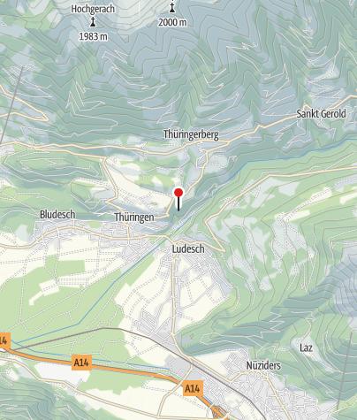 Karte / Thüringerberg, Burgruine Blumenegg
