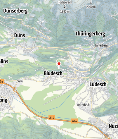 Karte / Bludesch, Burgruine Ansitz Jordan