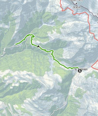 Karte / Von St. Antönien über die Chleibach-Hängebrücke nach Schuders