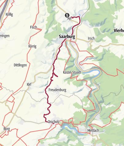 Karte / 2. Tag: Naturschönheiten des Saartals