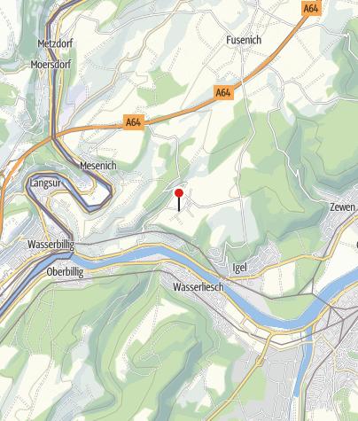 Karte / Moselsteig-Wünschelrouten 2019: Igel-Liersberg UNESCO-Weltkulturerbe Igeler Säule und Gruthenhäuschen mal anders