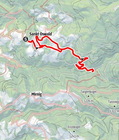 Karte / Rundwanderweg Steinmarquelle und Kneippbecken