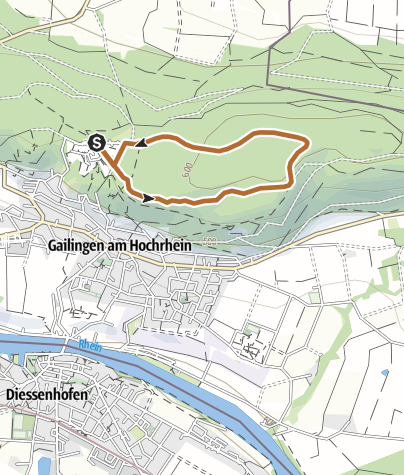 Karte / Nordic Walking Strecke (1a)