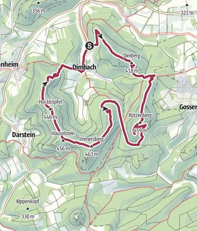 Karte / Wanderfit - Dimbacher Buntsandstein Höhenweg