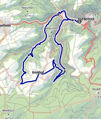 Karte / Auf den Spuren der Moselbande (Bad Bertrich)