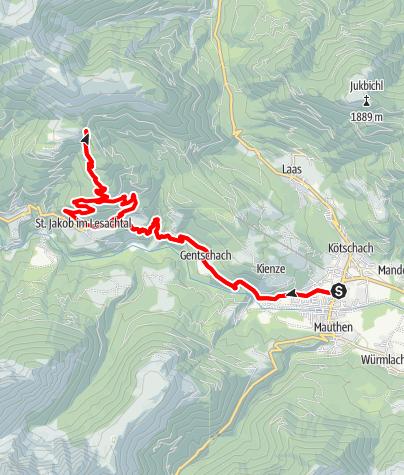Karte / KM4 - Strajach-Mussenweg