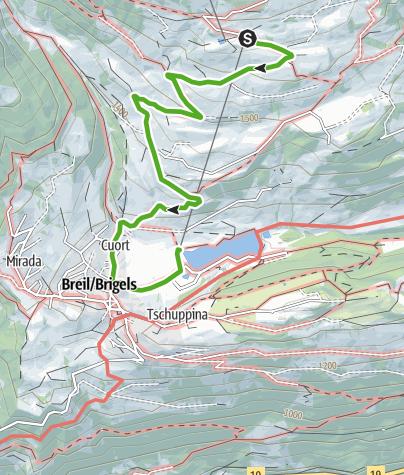Karte / Cuolms da Breil (Kinderwagentauglich)