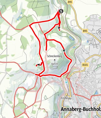 Karte / Bergbaulehrpfad Frohnauer Weg