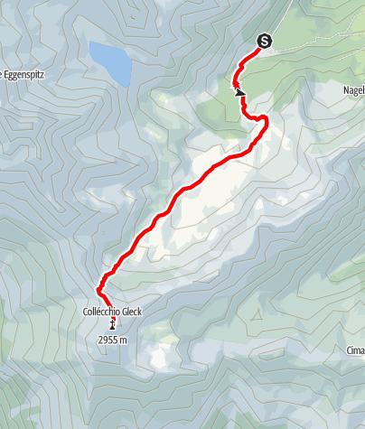 Map / Alpine Tour to the Gleck Mountain
