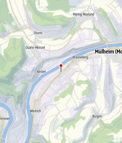 Karte / Moselsteig-Wünschelrouten 2019: Literarische Wanderung auf dem Klostergartenweg Brauneberg