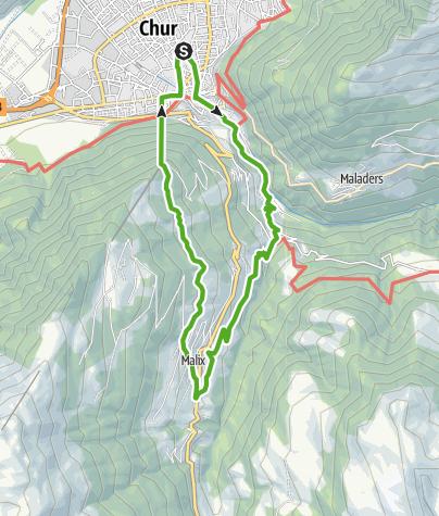 Map / 740 Känzeli Quelle Passugg