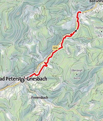 Karte / Nordic Walking Tour 1 - Bad Peterstal-Griesbach